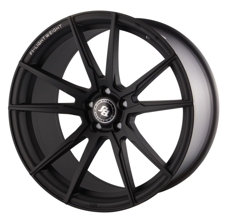 BJ Wheels<br>F1-Lightweight - Matt Black (18x8)