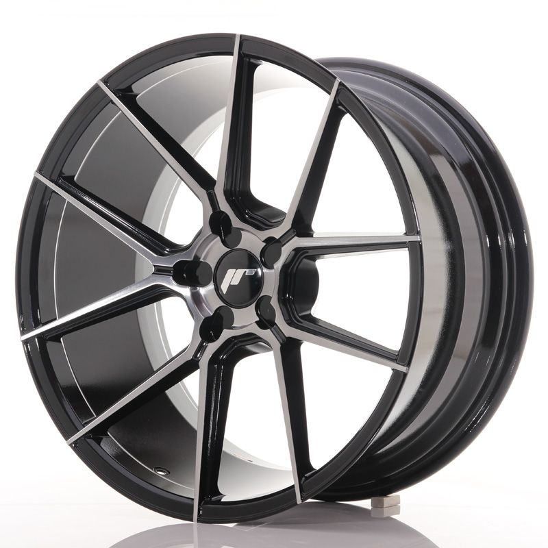 Japan Racing Wheels<br>JR30 Glossy Black Brushed Face (20x10)