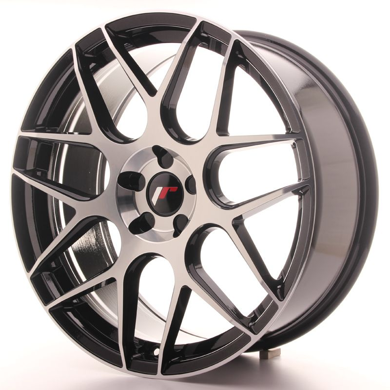 Japan Racing Wheels<br>JR18 Glossy Black Machined (20x8.5)