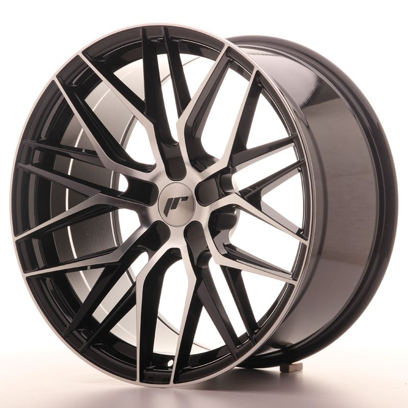 Japan Racing Wheels<br>JR28 Glossy Black Machined (20x10)