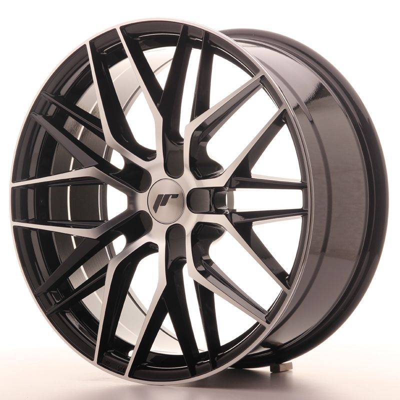 Japan Racing Wheels<br>JR28 Glossy Black Machined (20x8.5)