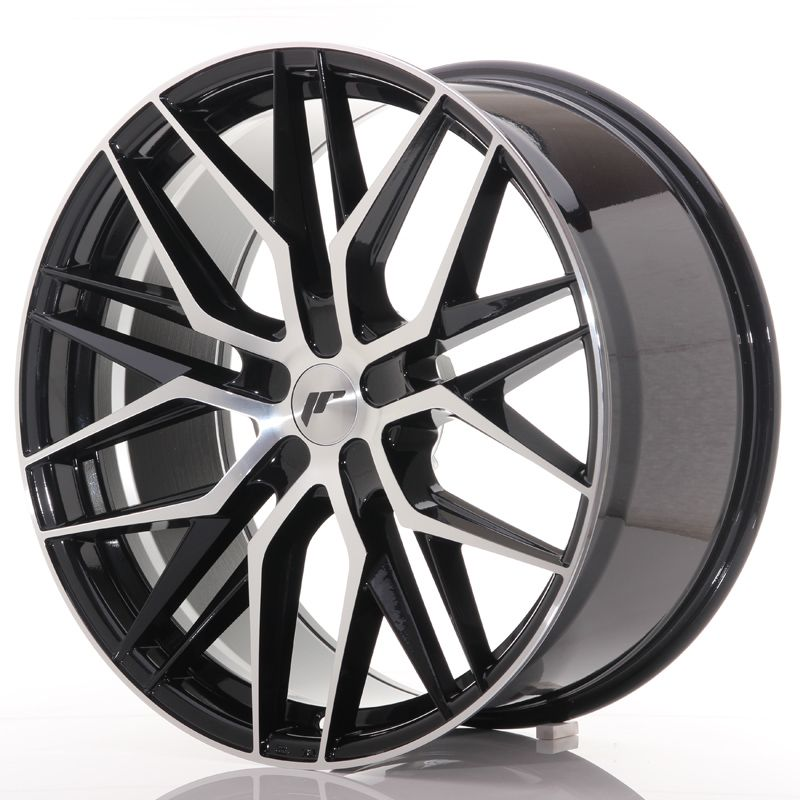 Japan Racing Wheels<br>JR28 Glossy Black Machined (22x10.5)