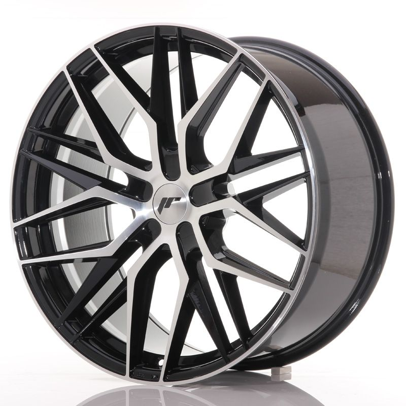Japan Racing Wheels<br>JR28 Glossy Black Machined (22x9)