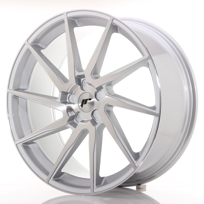 Japan Racing Wheels<br>JR36 Brushed Silver (22x10.5)